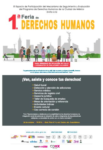 Primera feria de derechos humanos  para personas en situación de calle e integrantes de poblaciones callejeras