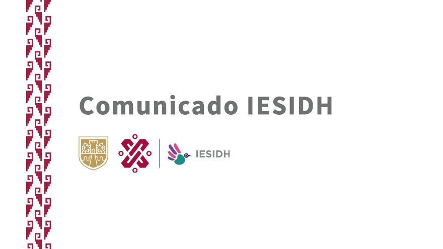 Comunicado IESIDH