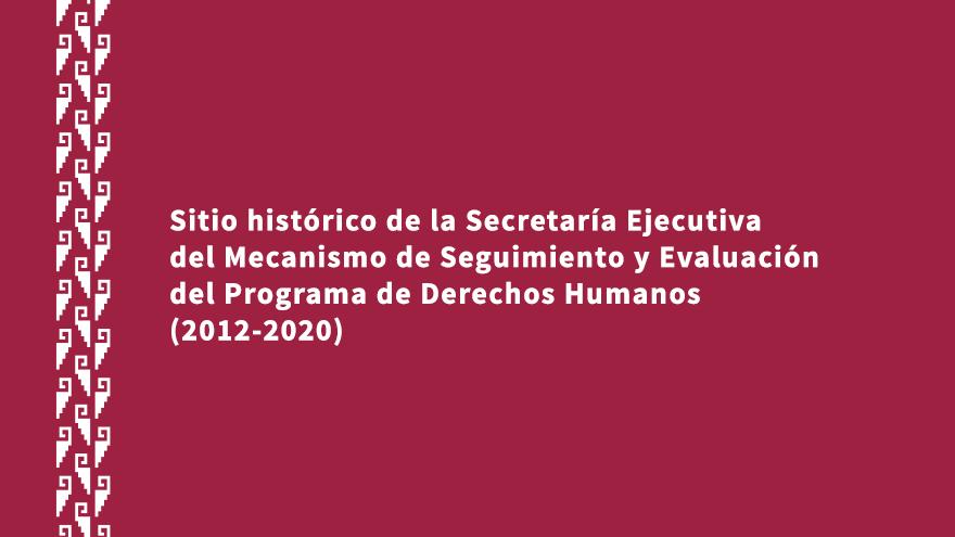 Sitio Web Histórico de la SEMSEPDH (2012-2020)